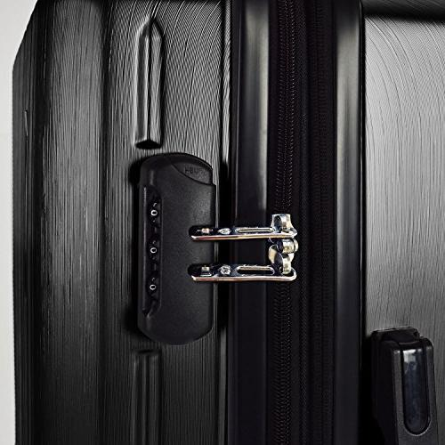 Traveler's Choice Durable Hardshell Expandable Large Checked Suitcase with System,