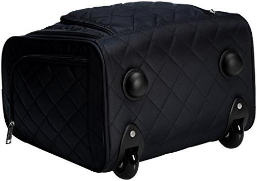 AmazonBasics Luggage, Black Quilted