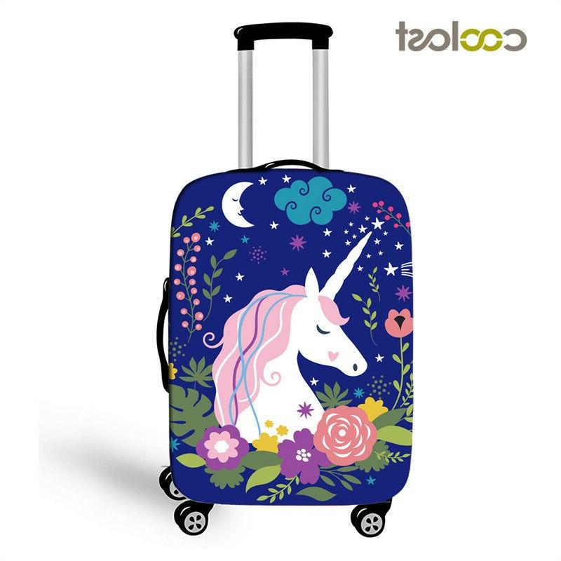 unicorn protective covers for suitcase cartoon luggage