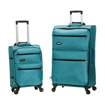 unisex gravity 2 piece lightweight luggage set