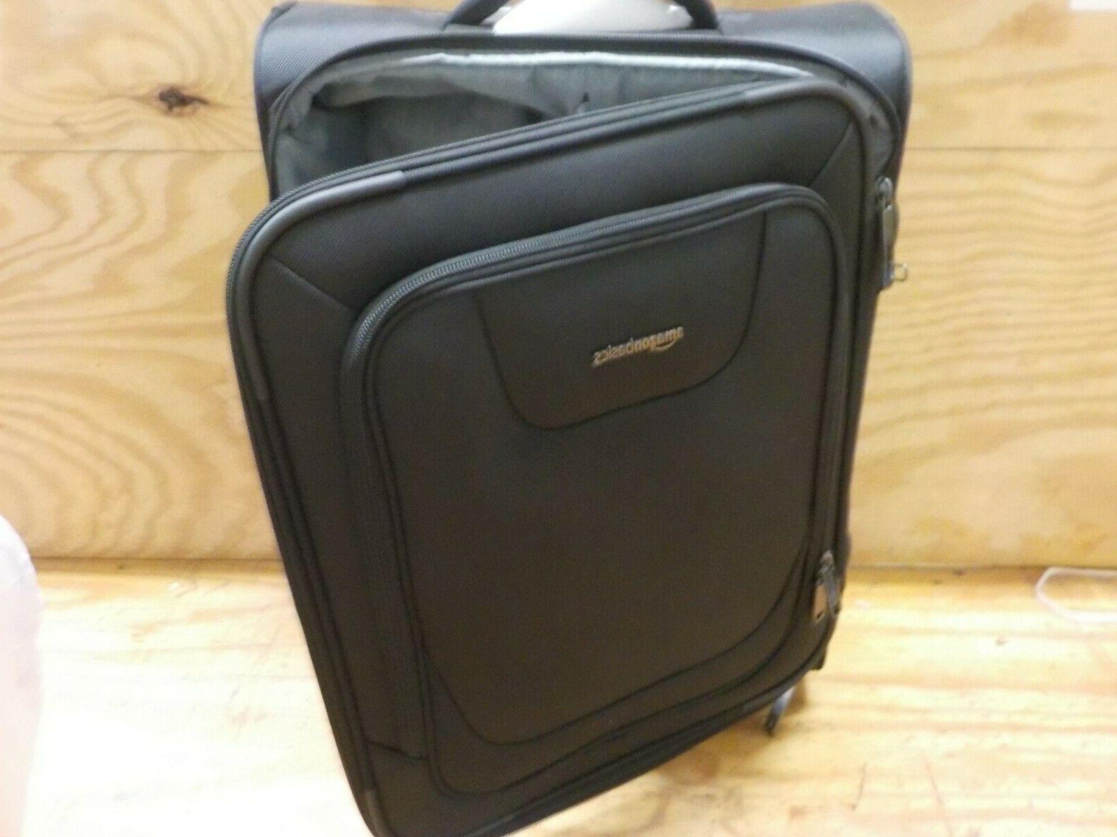 AmazonBasics Upright Spinner Expandable Softside Luggage TSA Lock