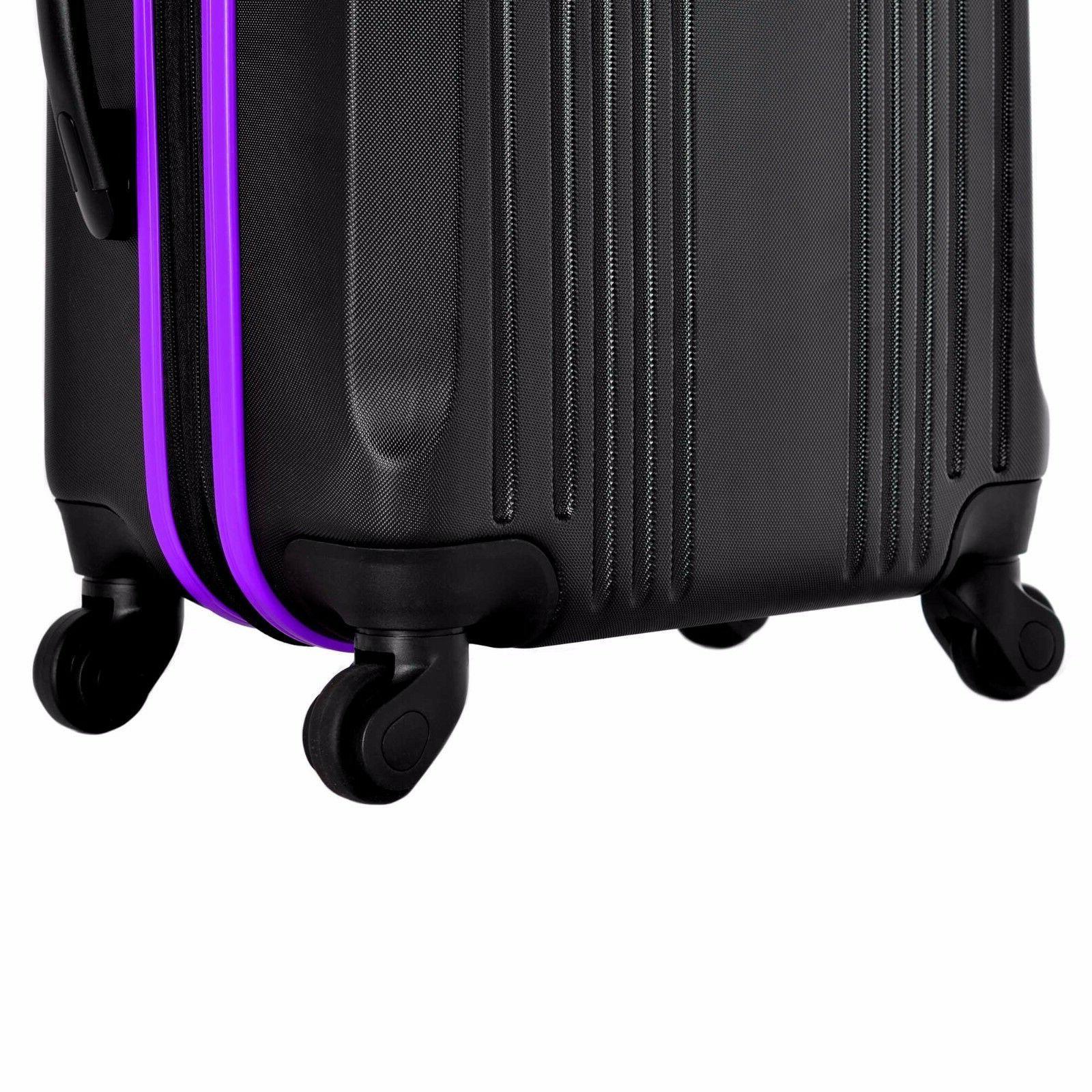 Olympia® 4-Wheel Spinner Set-Black/Purple