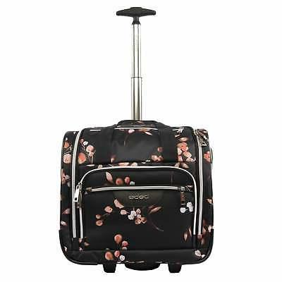 Bebe Valentina 16-inch Under the Seat Rolling Carry-On Tote