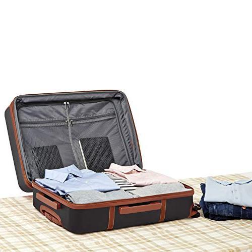 AmazonBasics Expandable Suitcase Spinner, Black