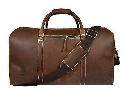 vintage leather duffle bag mens overnight weekend