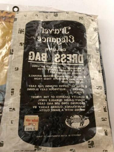 Vintage Travel Garment Bag Dress Black Hanging Clothes Carrier