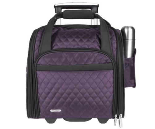Travelon Wheeled Underseat Carry-On with Back-Up Bag,One Siz