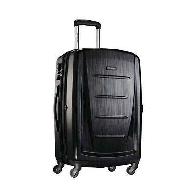winfield 2 hardside 24 luggage brushed anthracite