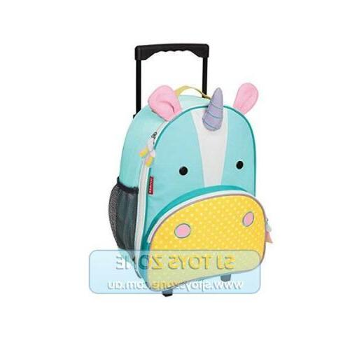 Skip Hop Zoo Little Kids Toddlers Rolling Luggage Travel Sui