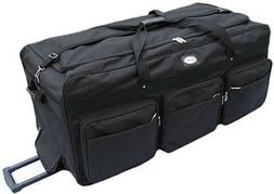 "Large 42"" Rolling Wheeled Duffel Bags Luggage Oversized Jumb"