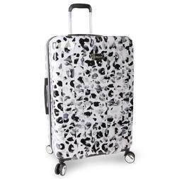 Bebe Leopard White 29-inch Hardside Spinner Upright Suitcase