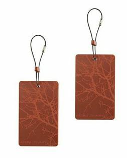 Lewis N. Clark  Travel Green Branches Luggage Tag, Orange