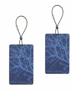 Lewis N. Clark  Travel Green Branches Luggage Tag, Blue