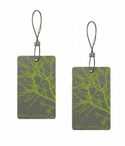 Lewis N. Clark  Travel Green Branches Luggage Tag, Green
