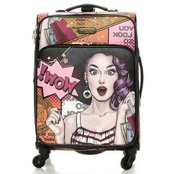LG1420 NICOLE LEE 20in CARRY ON LUGGAGE Wow Its Lucy