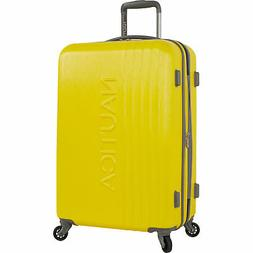 """Nautica Lifeboat Yellow Grey 20"""" Hardside Spinner Suitcase L"""