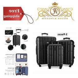 "Lightweight Hard Luggage Travel Suitcase Spinner 20"" 24"" 28"""
