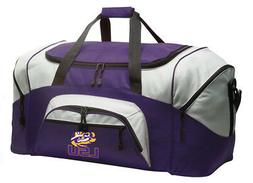 LSU Tigers Duffle Bag LSU Travel Bag Luggage LOADED W/ FEATU