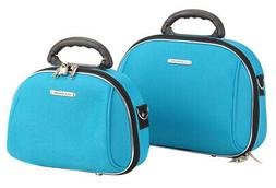 Rockland Luca Vergani 2-Piece Cosmetic Case Set - Turquoise