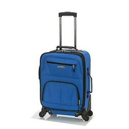 Rockland Luggage 19 Inch Expandable Spinner Carry on Blue