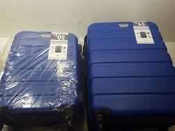 Coolife Luggage 2 Piece Set Suitcase Spinner Hardshell Light