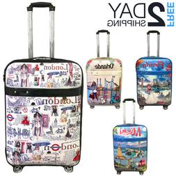 "Luggage 25"" Suitcase Trolley Wheeled Spinner Travel Set Ba"
