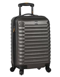 Lucas Luggage ABS Carry On Hard Case 20'' Rolling Suitcase W