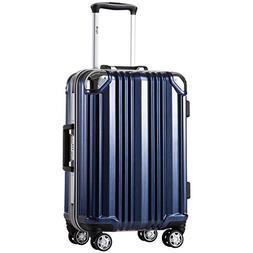 Coolife Luggage Aluminium Frame Suitcase with TSA Lock 100%
