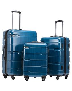 luggage expandable 3 piece pc abs spinner