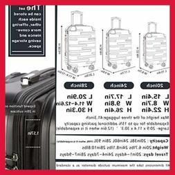 """Coolife Luggage Expandable Only 28"""" Suitcase 3 PC Set W TSA"""