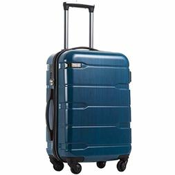 COOLIFE Luggage Expandable Suitcase PC+ABS Spinner Built-in