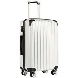 COOLIFE Luggage Expandable Suitcase PC+ABS Spinner 20in 24in