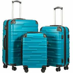 Coolife Luggage Expandable Suitcase 3 Piece Set with TSA Loc