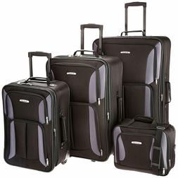Rockland Luggage Expandable Wheeled 4 Piece Set, Travel Bags