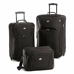 luggage fieldbrook ii 3 piece set black