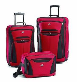 American Tourister Luggage Fieldbrook II 3 Piece Set, Red/Bl