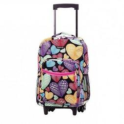 """Luggage For Kids With Wheels Rolling Backpack Girls 17"""" Scho"""