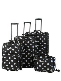 Rockland Luggage Galleria 4 Piece Softside Expandable Luggag