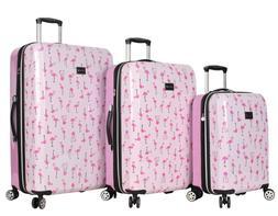 Betsey Johnson Luggage Hardside 3 Piece Set Suitcase With Sp
