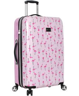"Betsey Johnson Luggage Hardside 30"" Suitcase With Spinner Wh"