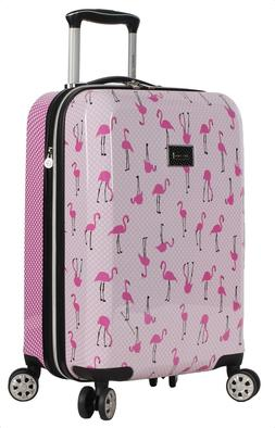 "Betsey Johnson Luggage Hardside Carry On 20"" Suitcase With S"
