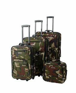 Rockland Luggage Journey 4 Piece Softside Expandable Luggage