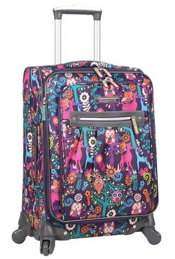 Lily Bloom Luggage Large Expandable Design Pattern Suitcase