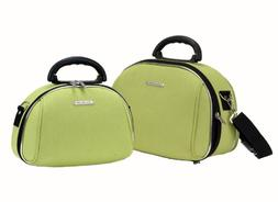 Rockland Luggage Luca Vergani 2 Piece Cosmetic Set, Lime, On