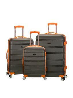 Rockland Luggage Melbourne 3 Piece Hardside Luggage Set