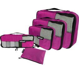 Luggage Packing Cubes Organizer Mesh Travel Laundry Bag Wate