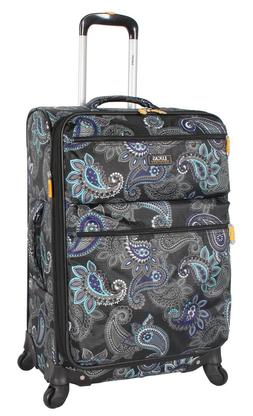 """Lucas Luggage Printed Softside 20"""" Carry On Lightweight Expa"""