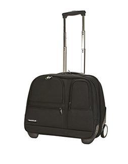 Rockland Luggage Rolling Computer Case, Black, Medium