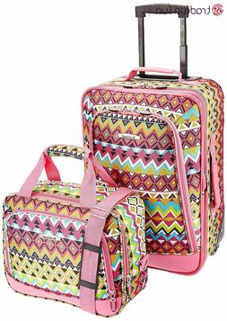 Luggage Set 2Pcs Travel Carry On Suitcase Rolling Tote Bag G