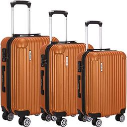 Luggage Set 3 Piece ABS Trolley Suitcase Spinner Hardshell L